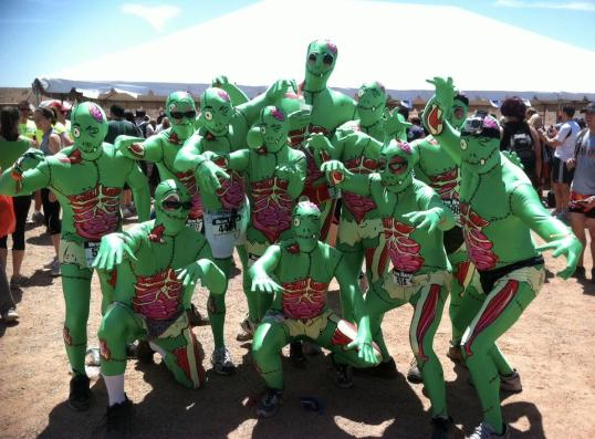 Need a Morph Suite?  We helped this group of firefighters win Best Costume in Las Vegas own Devil Dash!